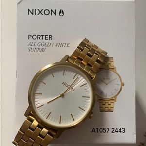 Nixon Porter Watch - Gold/White